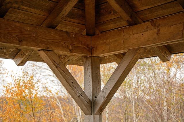 Holzdach einer Veranda